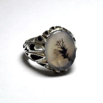 انگشتر سنگ عقیق شجر 219.5