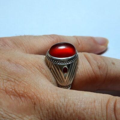 انگشتر عقیق یمنی a498.6