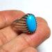 عکس ریز انگشتر قدیمی فیروزه مصری 237.4
