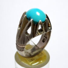 انگشتر فدیوم فیروزه نیشابوری f505