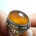 عکس ریز انگشتر جزع زرد یمانی f510.8