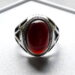 عکس ریز انگشتر قدیمی عقیق آلبالویی f512_4