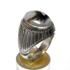 انگشتر عقیق شجر پرنده 221