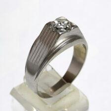 انگشتر پلاتین مردانه الماس 332