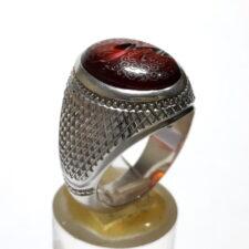 انگشتر مردانه گارنت خطی 7216