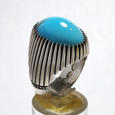 انگشتر مردانه فیروزه نیشابوری f515