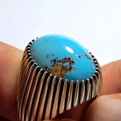 انگشتر مردانه فیروزه نیشابوری f515_2