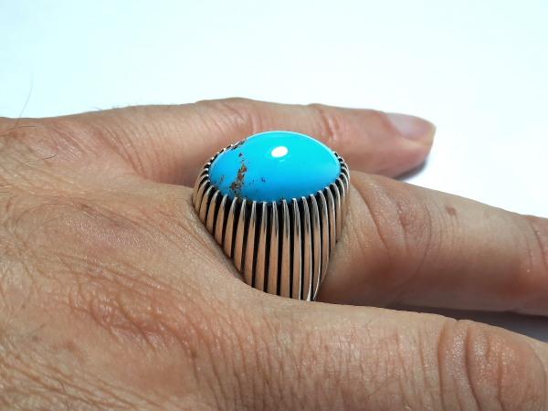 انگشتر مردانه فیروزه نیشابوری f515_7