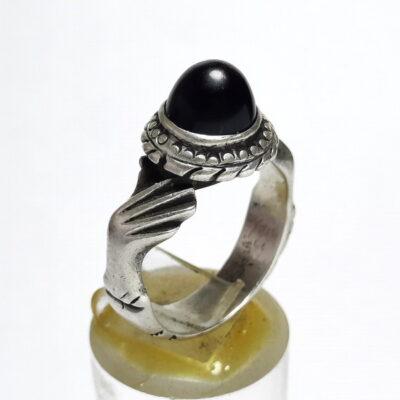 انگشتر قدیمی عقیق یمنی a502