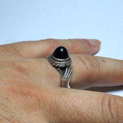 انگشتر قدیمی عقیق یمنی a502_3