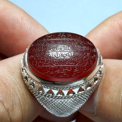 انگشتر عقیق یمن خطی 7129_1