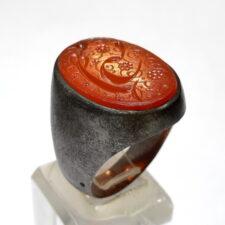 انگشتر قدیمی حکاکی قاجاری f519