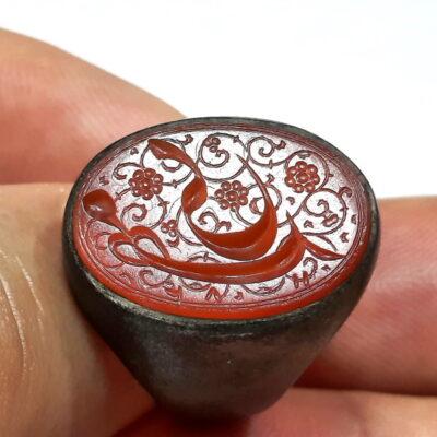انگشتر قدیمی حکاکی قاجاری f519_2