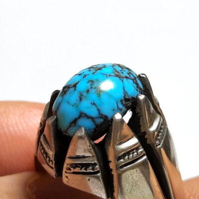 انگشتر فیروزه عنکبوتی نیشابور 238_1