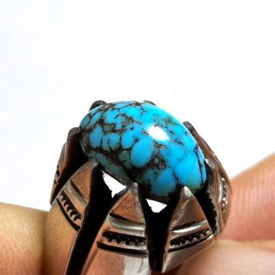 انگشتر فیروزه عنکبوتی نیشابور 238_3