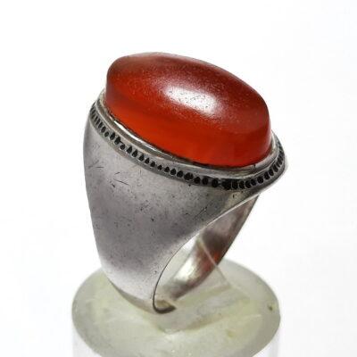 انگشتر قدیمی عقیق یمنی a485