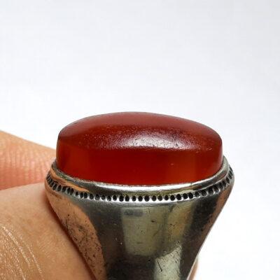 انگشتر قدیمی عقیق یمنی a485_2