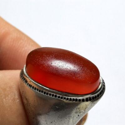 انگشتر قدیمی عقیق یمنی a485_3