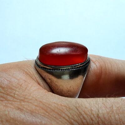 انگشتر قدیمی عقیق یمنی a485_5