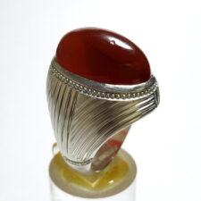 انگشتر جزع سرخ تیره یمانی f522