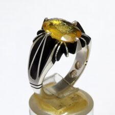 انگشتر یاقوت زرد خطی 7135