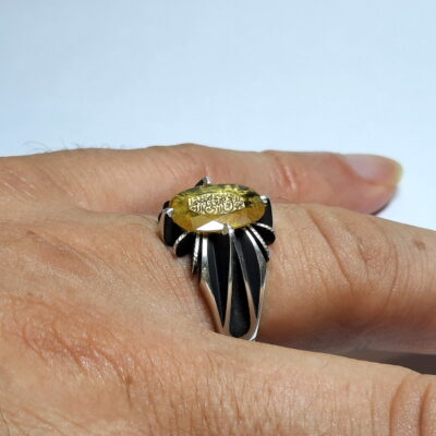 انگشتر یاقوت زرد خطی 7135_4