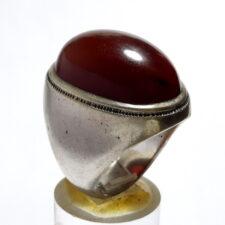 انگشتر قدیمی مردانه جزع یمانی f527