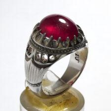 انگشتر جواهر یاقوت سرخ f529