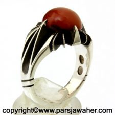 انگشتر جزع سرخ یمنی 3007