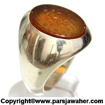 انگشتر نقره عقیق زرد یمنی 2206