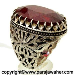 انگشتر یاقوت سرخ افریقایی 1037