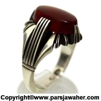 انگشتر عقیق یمنی نقره 1072