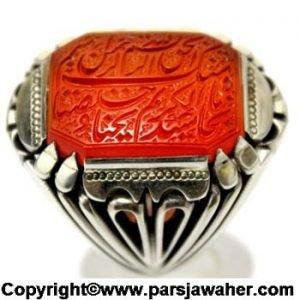 رکاب انگشتر مردانه عقیق میرزا 2806