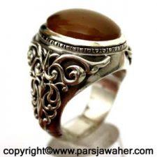 انگشتر مردانه نقره جزع یمانی 3016