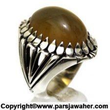 انگشتر نقره جزع یمنی 3009