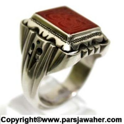 Agate Handmade Silver Ring 2619
