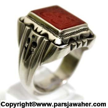 Agate Handmade Silver Ring 2619
