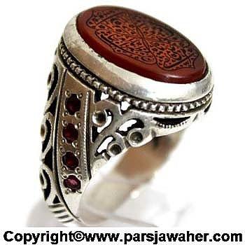 انگشتر دست ساز نقره 2205