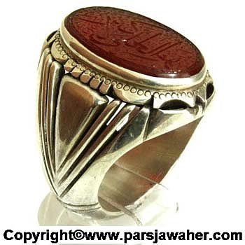 انگشتر مردانه عقیق 2201
