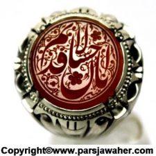 نگین انگشتر عقیق خطی قدیم الاحسان 8372