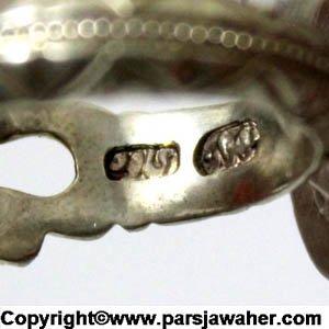 مهر رکاب کاوه انگشتر عقیق خط حیدری