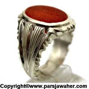 انگشتر مردانه نقره عبد 2230