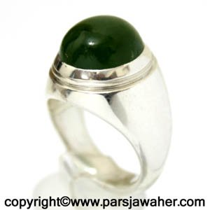 انگشتر نقره یشم سبز عرب 333