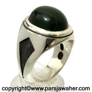 انگشتر نقره یشم 12202