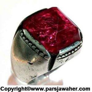 انگشتر نقره مردانه با یاقوت سرخ درشت