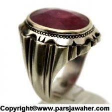 انگشتر مردانه یاقوت سرخ چیچک مقدمی 177