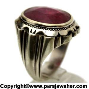 انگشتر مردانه یاقوت سرخ چیچک مقدمی 1032