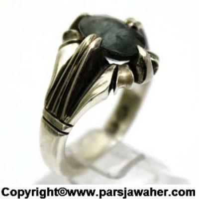 انگشتر نقره یاقوت کبود 273