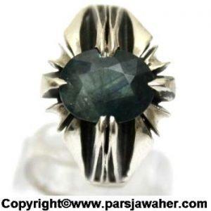 نگین انگشتر نقره یاقوت کبود 273