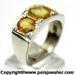 انگشتر نقره یاقوت زرد 337
